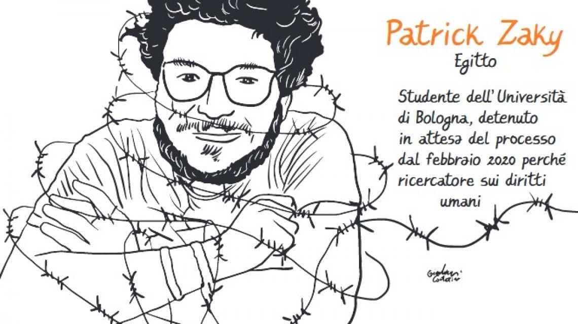 """174031126 dc360bde 8af1 4d39 9c1e 582ee24fff8b - Patrick Zaki """"patrimonio dell'umanità"""": la mostra sotto i portici a Bologna per il suo compleanno"""