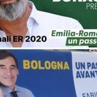 Comunali Bologna, il candidato di centrodestra copia lo slogan di Bonaccini.