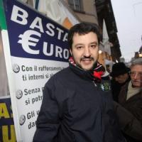 Salvini (Lega) show anti euro