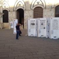 Piazza del Campo, in mostra le prime pagine di Repubblica