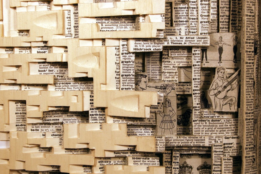 I libri scavati dall'artista