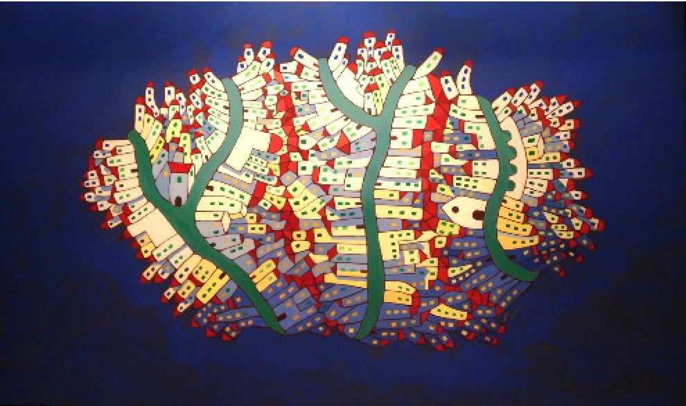 Forme e colori, le illustrazioni oniriche di Giulio Picchi