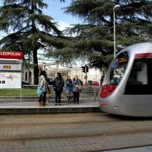 Il tram sotto il centro storico
