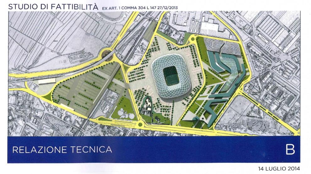 Nuovo stadio, i rendering del progetto viola: 40 mila posti coperti