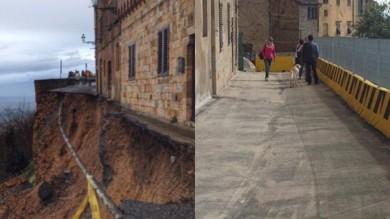 """Volterra, ricostruite le mura medievali  Rossi: """"Restauro record in soli 8 mesi"""""""
