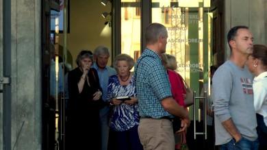 Video:  l'ex regina d'Olanda  in visita al museo del Novecento