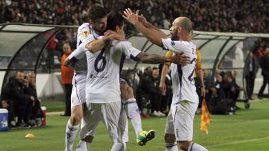 Fiorentina, terza vittoria in Europa League contro il Paok decide un gol di Vargas /   Foto