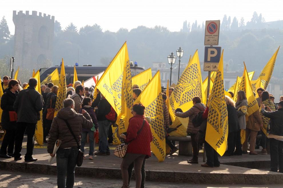Insegnanti, il Gilda manifesta contro il Governo