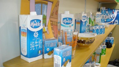 Il latte Mukki sbarca in Cina e l'etichetta è in mandarino