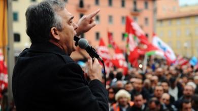 Sciopero generale a Livorno,  Rossi contestato /   foto  di LAURA LEZZA