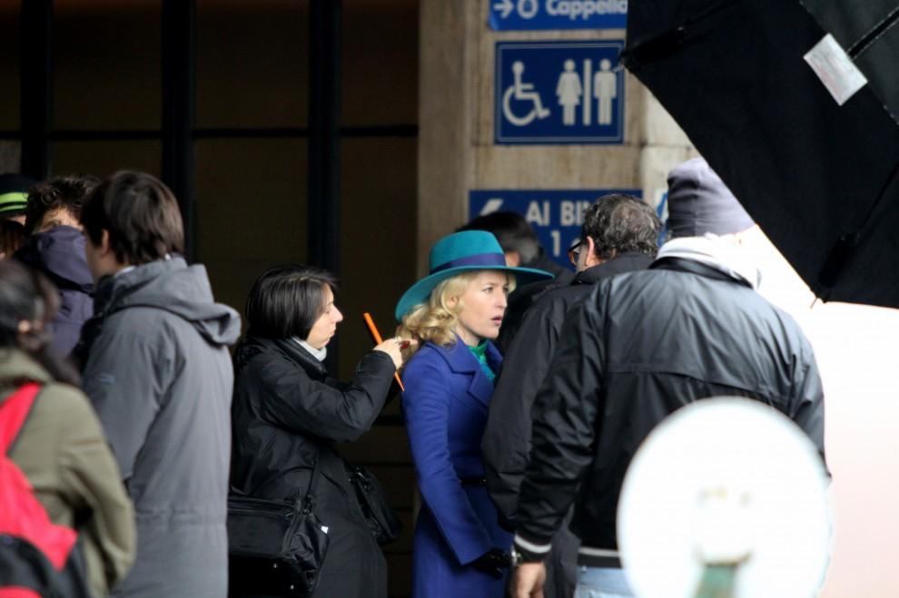 Gillian Anderson a  Firenze, ciak per le riprese della serie tv Hannibal