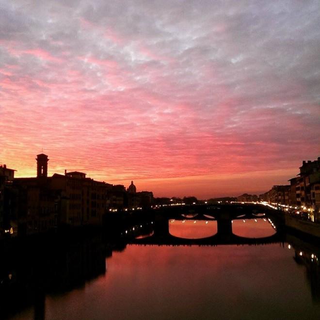 Giardino Orticoltura Firenze: Un Tetto Di Nuvole Rosse: Che Tramonto A Firenze