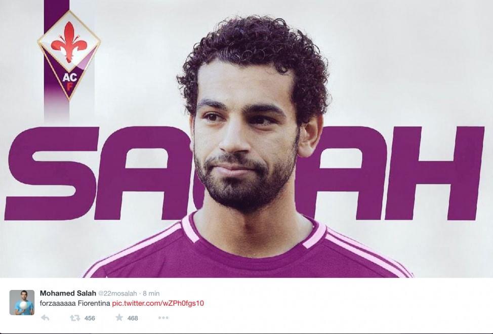Con queste due parole il nuovo giocatore viola, Mohamed Salah, ha incoraggiato la sua nuova squadra prima del match di coppa Italia contro la Roma. - 205908465-c9368ff0-9764-4f48-8128-6e4dbf143351