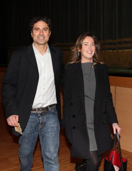Il ministro Boschi a teatro per il debutto dell'amico (ed ex fidanzato) attore