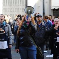 Livorno, la protesta dei lavoratori