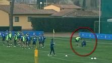 Così si è infortunato Claudio Marchisio a Coverciano
