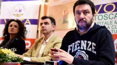 """Salvini a Firenze: """"A Renzi  chiedo un confronto pubblico""""-  Foto   Vd: """"Non pagati i fornitori dei mondiali"""""""