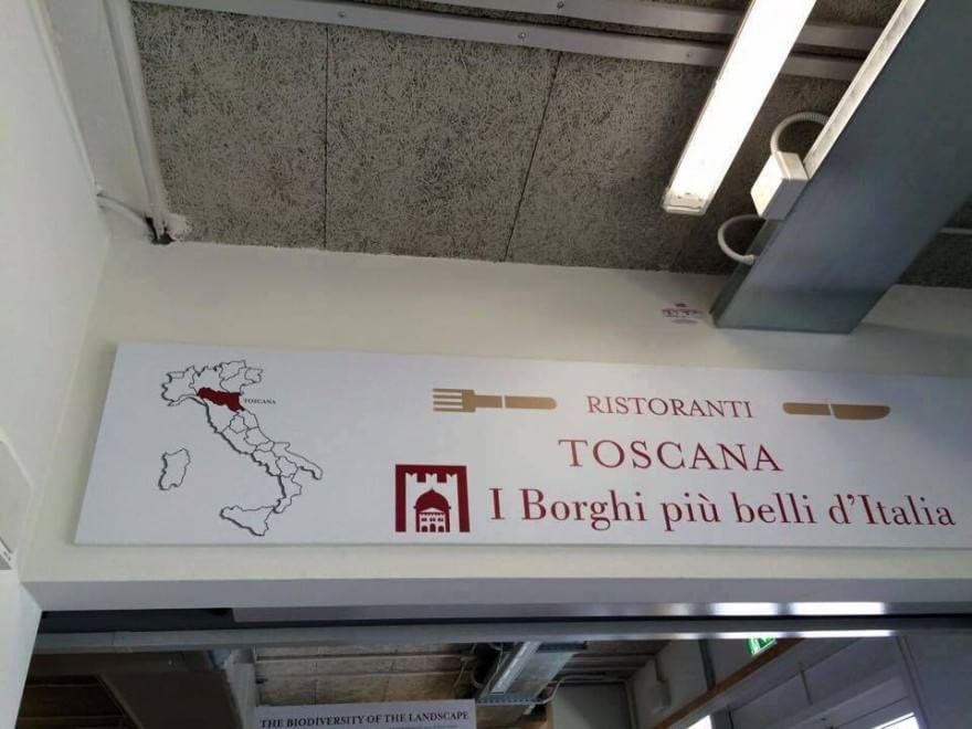 Gaffe all'Expo, sull'insegna dei ristoranti la Toscana scambiata con l'Emilia Romagna