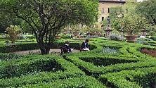 Gli artisti del Big Draw  al giardino Corsini
