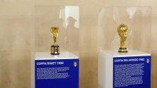 Le quattro Coppe del Mondo dell'Italia in mostra a Palazzo Vecchio