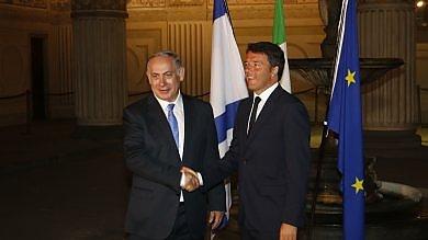 """Renzi: """"L'Italia al fianco di Israele uniti contro il terrorismo"""" -   foto   -   video"""