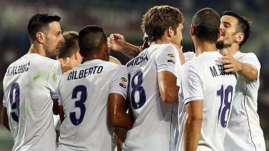 La Fiorentina in vantaggio poi cola a picco