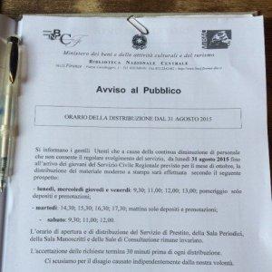 Biblioteca Nazionale,vergogna sul foglio con stemma