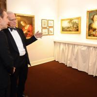 Jeff Koons alla cena di gala della Biennale dell'Antiquariato