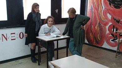 Giada, unica allieva del liceo classico  di Massa Marittima -    Le immagini