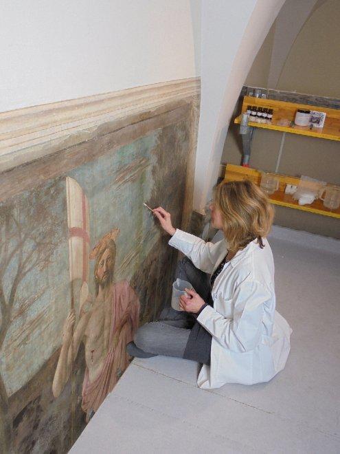 Il restauro della Resurrezione di Piero della Francesca