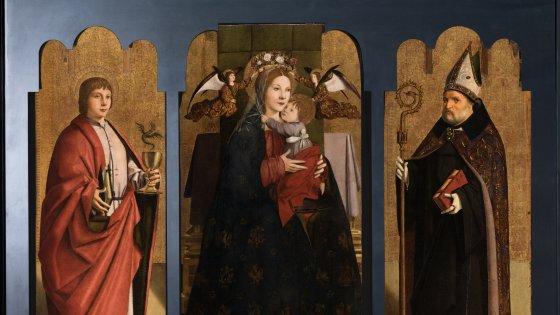 Riunito dopo 400 anni agli Uffizi il trittico di Antonello da Messina