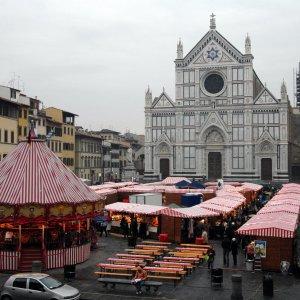 Mercatini Di Natale Firenze.Il Mercatino Tedesco Di Natale In Piazza Santa Croce A