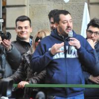 Arezzo, Salvini in piazza con i risparmiatori di Banca Etruria
