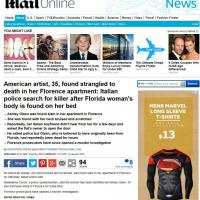 Firenze, ragazza americana strangolata: la notizia sui siti stranieri