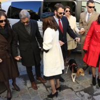 Firenze, i familiari e il fidanzato e il cane Scout ai funerali di Ashley