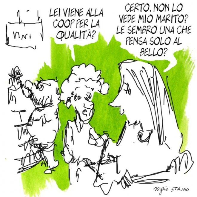 Le vignette di Staino per il nuovo punto vendita Coop di Vingone