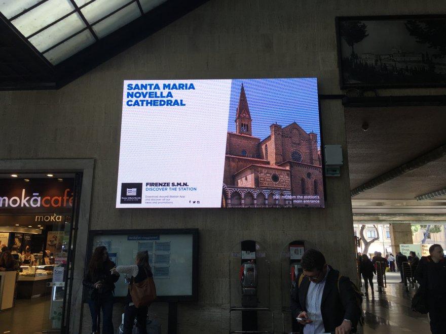 "Santa Maria Novella, la ""cathedral"" di Firenze? Gaffe di Grandi Stazioni"