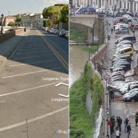 Firenze, il Lungarno prima e dopo la voragine
