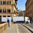 Camion bloccato  a Santa Trinita per colpa del gps -  foto