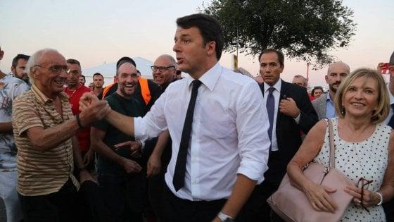 """Renzi, alla Festa dell'Unità: """"Un patto per Firenze"""""""