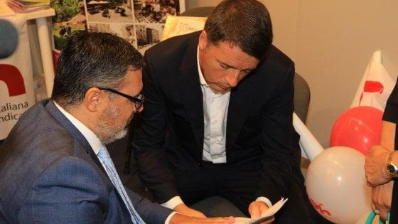 """Firenze, Renzi: """"Più fondi per i non autosufficienti nella legge di stabilità"""""""