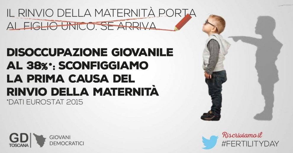 """In Toscana la controcampagna dei Giovani democratici: """"Riscriviamo il Fertility Day"""""""