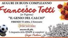 "L'Enoteca Pinchiorri  a Totti: ""Firenze ti ama"": ma i tifosi si dividono"