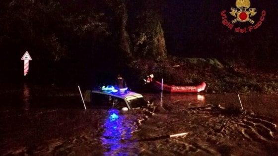 Maltempo, volontario bloccato nel torrente a Montalcino: salvato