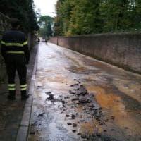 Firenze, si rompe tubo dell'acqua in via dei Cappuccini