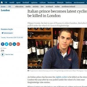 Polemica sui camion 'pirata' di Londra: così sono morti il principe Corsini e una giovane italiana