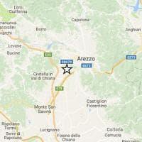Terremoto, tre scosse ad Arezzo: la più forte di magnitudo 2.8