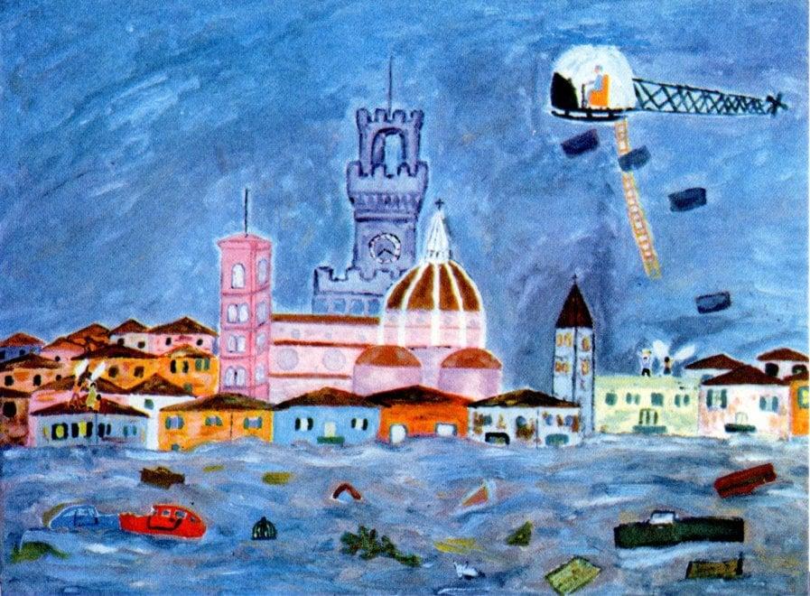 Firenze, il ricordo dell'alluvione nei disegni degli alunni del'66