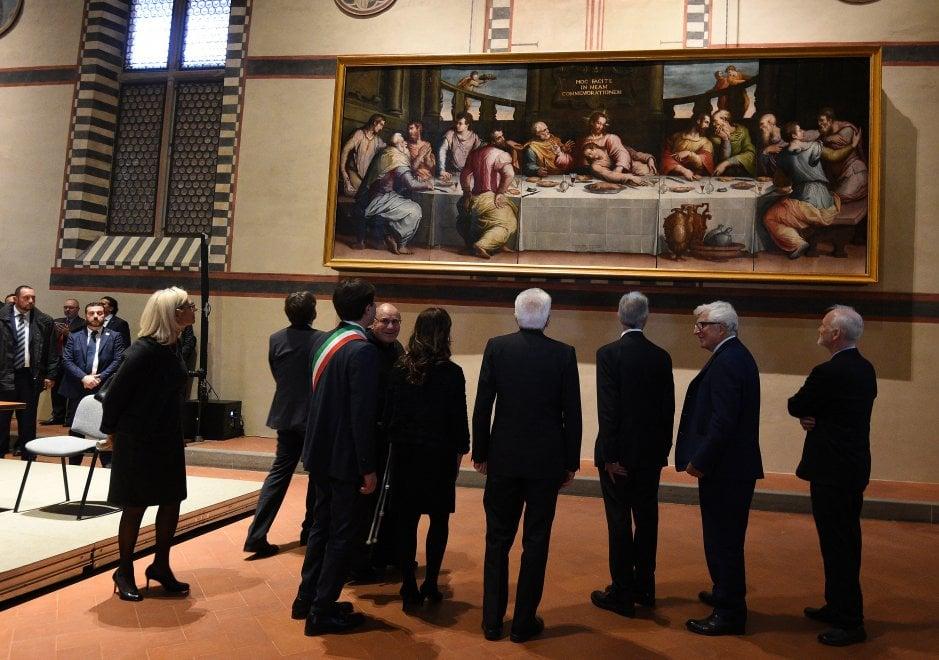 Firenze, il restauro in Santa Croce: per due giorni il Vasari dell'Ultima cena, a ingresso libero