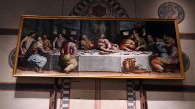 Così è rinata l'Ultima cena di Vasari esposta in Santa Croce -   foto     video